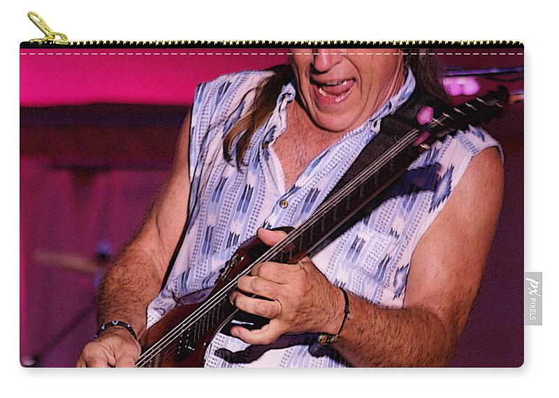 Mark Farner Carry-all Pouch featuring the photograph Mark Rocking In Lewiston 2009 by Ben Upham