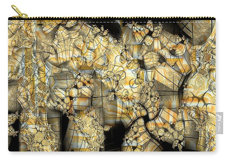 Abstract Carry-all Pouch featuring the digital art Marked by Ron Bissett