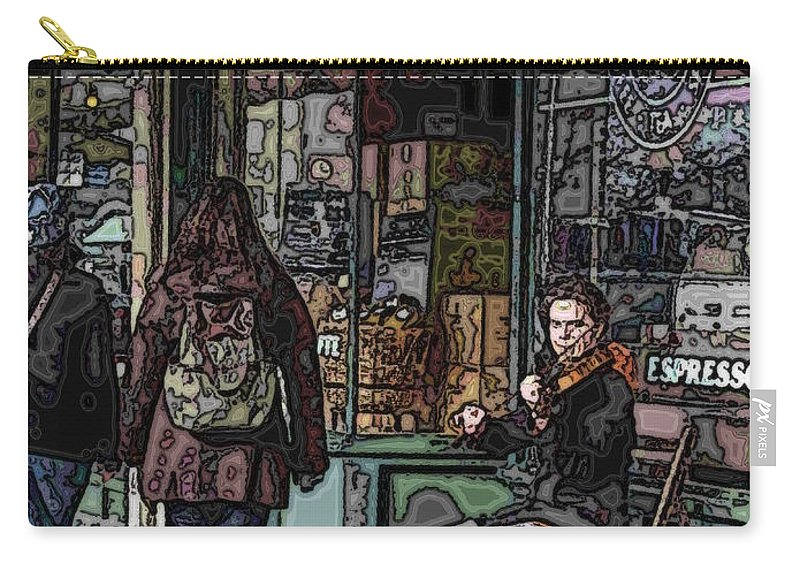 Market Carry-all Pouch featuring the photograph Market Busker 8 by Tim Allen