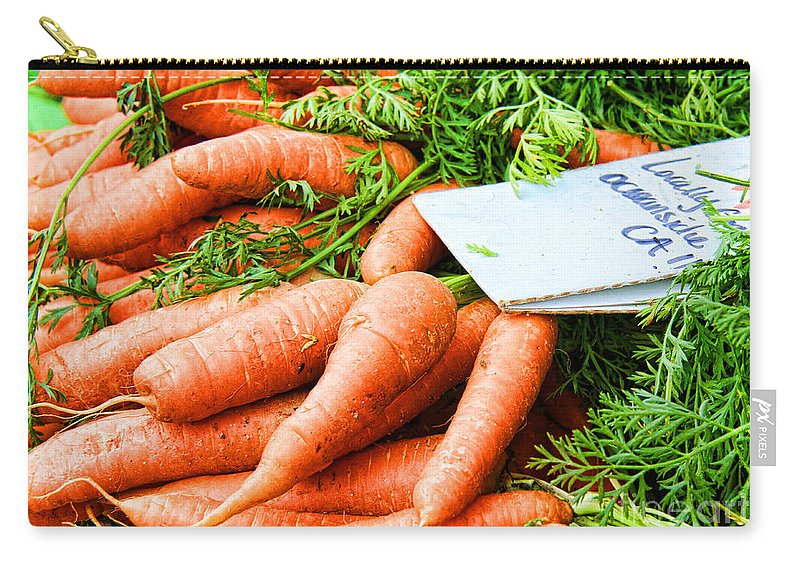 Carrots Carry-all Pouch featuring the photograph Market Carrots By Diana Sainz by Diana Raquel Sainz