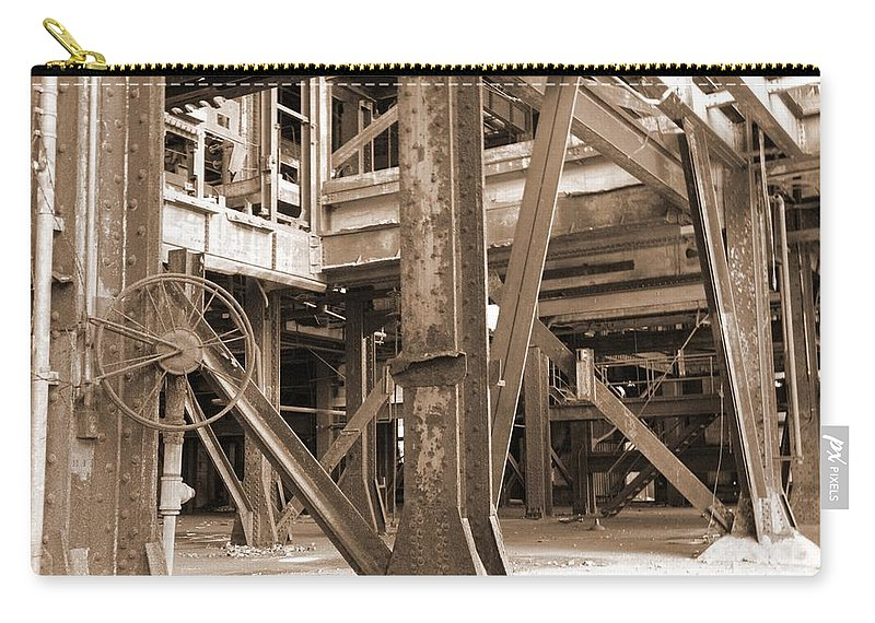 Market Street Carry-all Pouch featuring the photograph Market St. Power Plant #2 by Chris Pietraroia