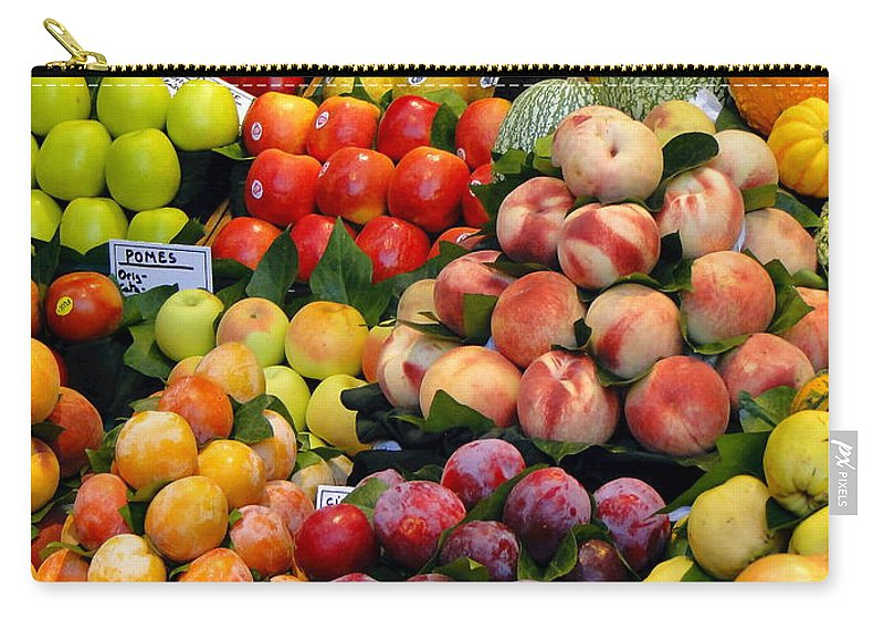 Food Carry-all Pouch featuring the photograph Market Time II by Sue Melvin