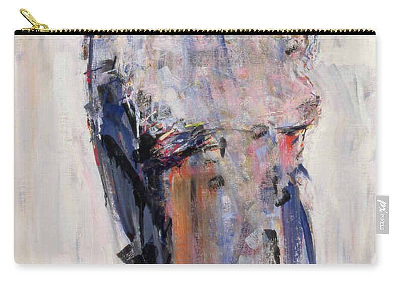 Portrait Carry-all Pouch featuring the painting Marlene Dietrich by Stephen Finer
