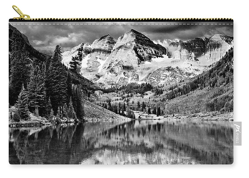 America Carry-all Pouch featuring the photograph Maroon Bells by Joe Mamer