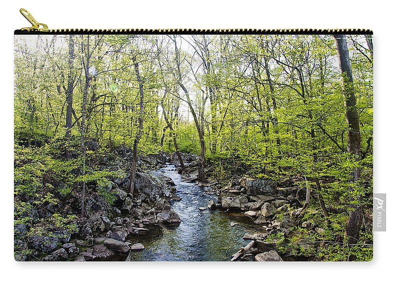 Marsh Carry-all Pouch featuring the photograph Marsh Creek In Spring by Bill Cannon