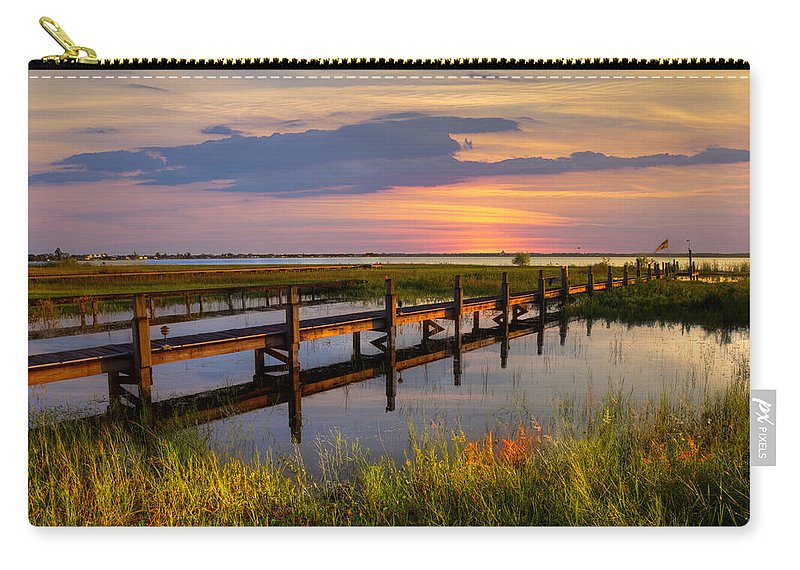 Clouds Carry-all Pouch featuring the photograph Marsh Harbor by Debra and Dave Vanderlaan