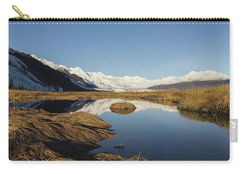 College Fjord Carry-all Pouch featuring the photograph Marsh by Ted Raynor