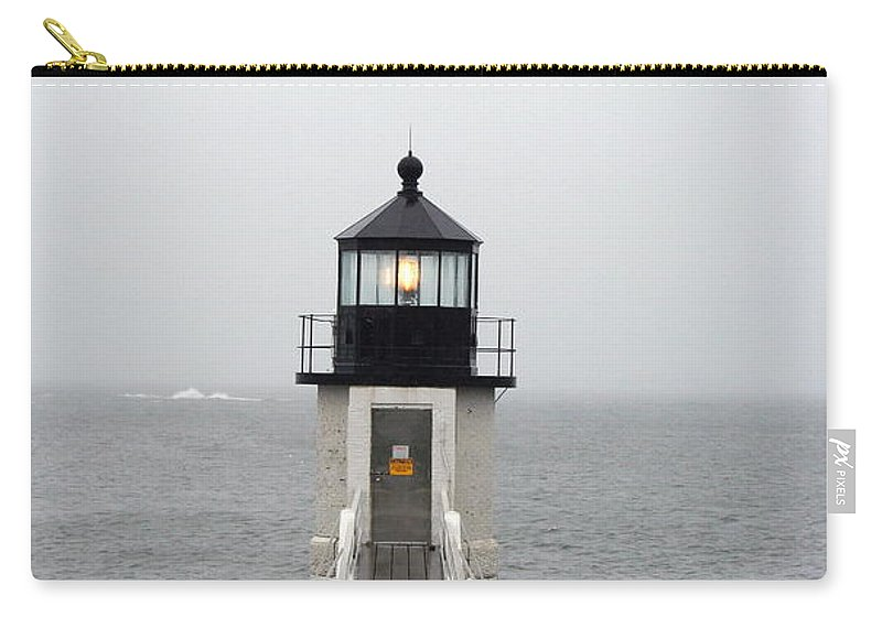 Lighthouse Carry-all Pouch featuring the photograph Marshall Point Light On A Foggy Day by Christiane Schulze Art And Photography