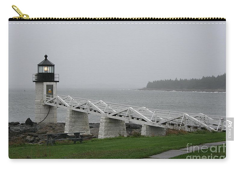 Lighthouse Carry-all Pouch featuring the photograph Marshall Point Light Station - Maine by Christiane Schulze Art And Photography
