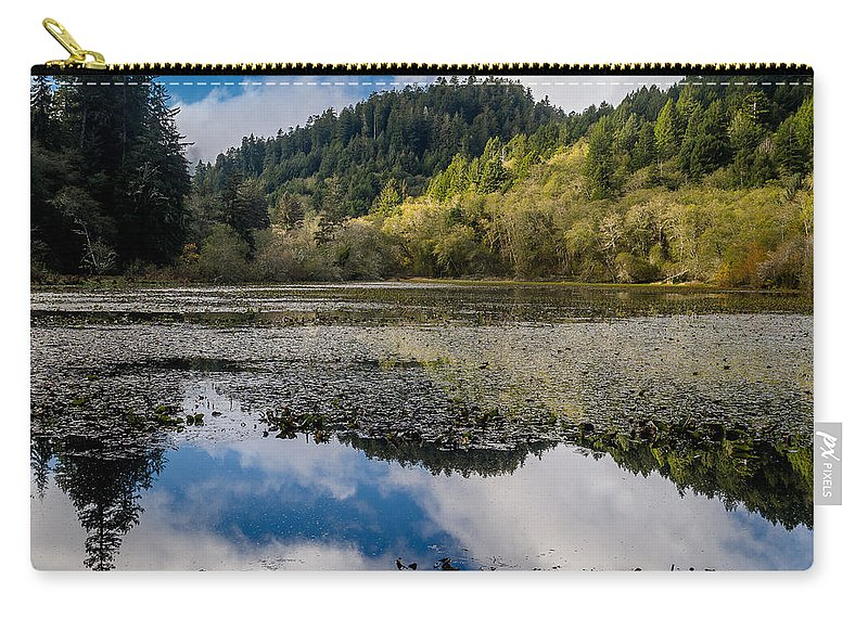 Clouds Carry-all Pouch featuring the photograph Marshall Pond In Autum by Greg Nyquist