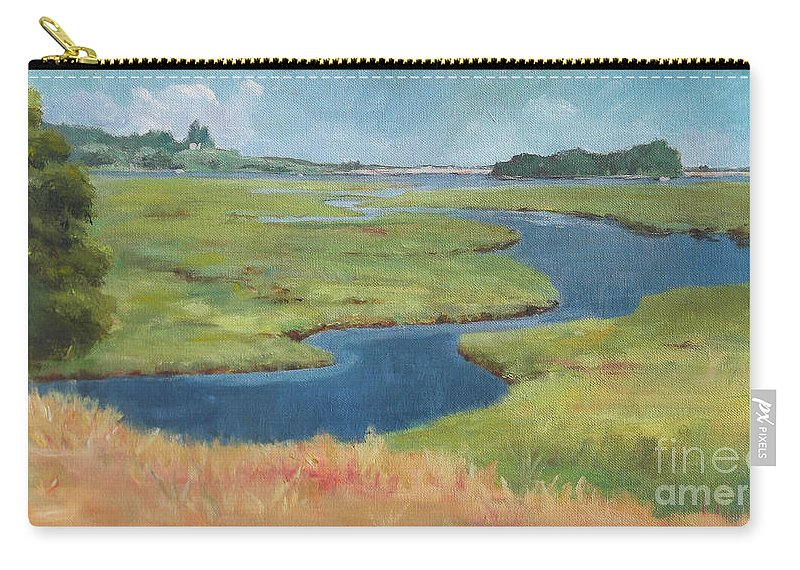 Claire Gagnon Carry-all Pouch featuring the painting Marshes At High Tide by Claire Gagnon