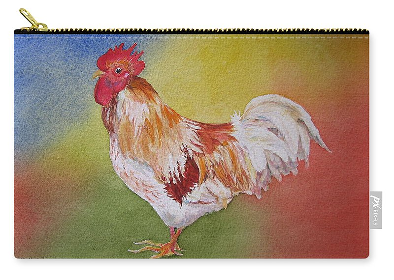 Watercolor Carry-all Pouch featuring the painting Marshmallow by Mary Ellen Mueller Legault