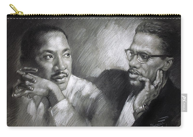Martin Luther King Jr And Malcolm X Carry All Pouch For Sale By Ylli