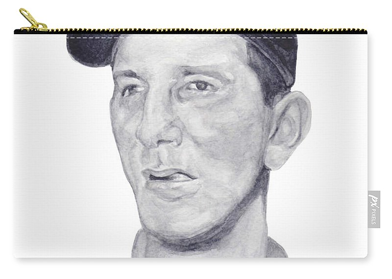 Billy Martin Carry-all Pouch featuring the painting Martin by Tamir Barkan