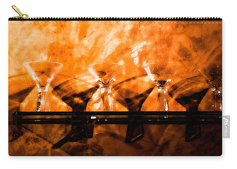 Martini Carry-all Pouch featuring the photograph Martini Art by Photos By Cassandra