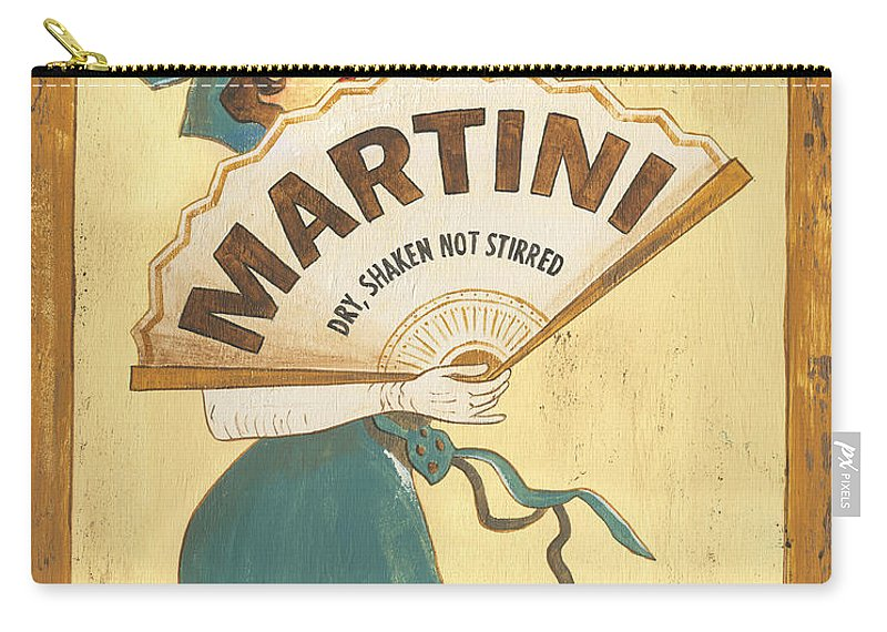 Martini Carry-all Pouch featuring the painting Martini Dry by Debbie DeWitt