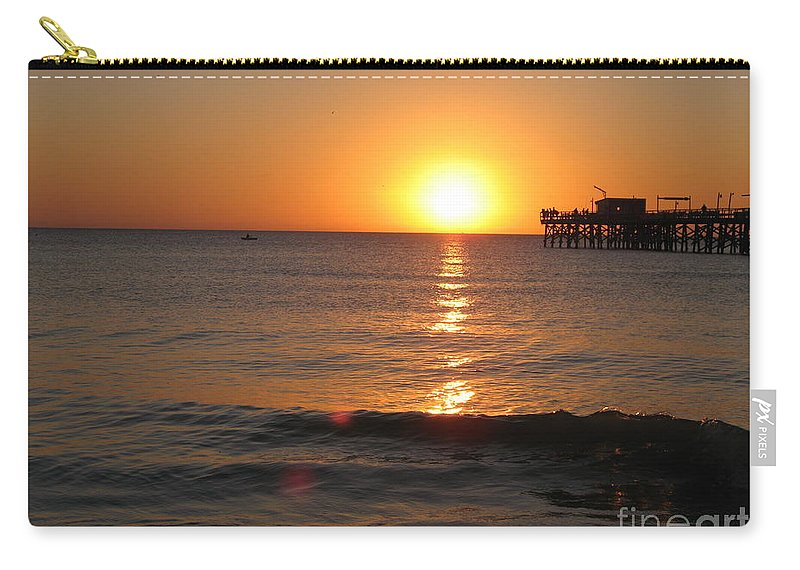Sunset Carry-all Pouch featuring the photograph Marvelous Gulfcoast Sunset by Christiane Schulze Art And Photography