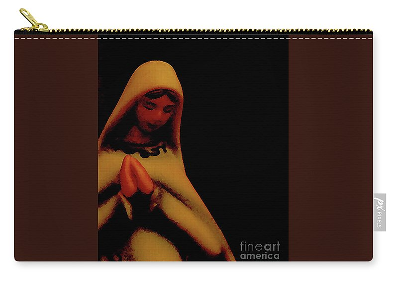 Mary Carry-all Pouch featuring the photograph Mary by Linda Shafer