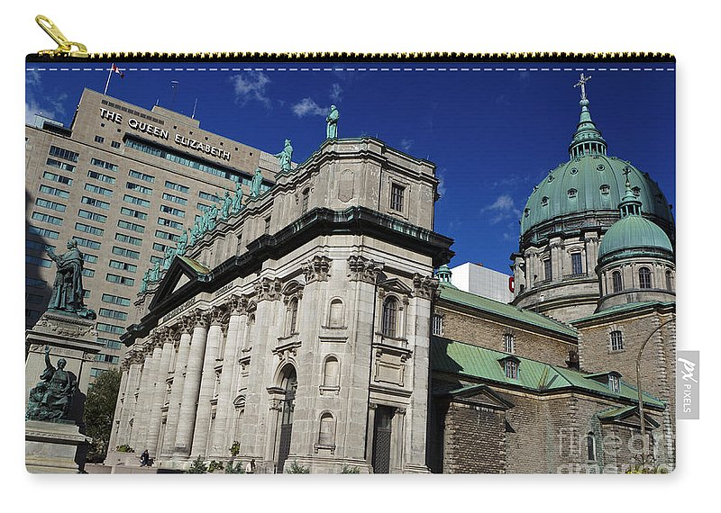 Travel Carry-all Pouch featuring the photograph Mary Queen Of The World Cathedral Montreal by Jason O Watson