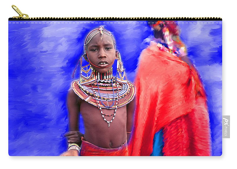 Kenya Carry-all Pouch featuring the photograph Masai by Edmund Nagele