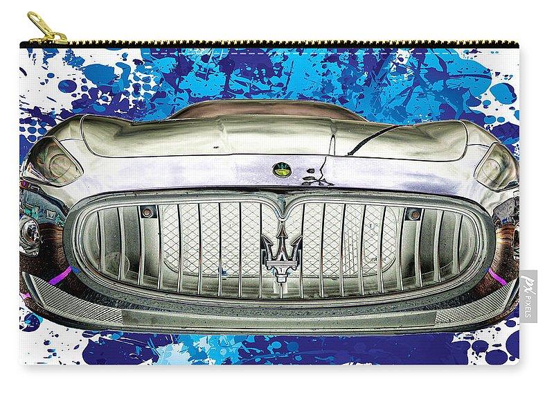 Maserati Carry-all Pouch featuring the photograph Maserati Granturismo I I I by Paulette B Wright