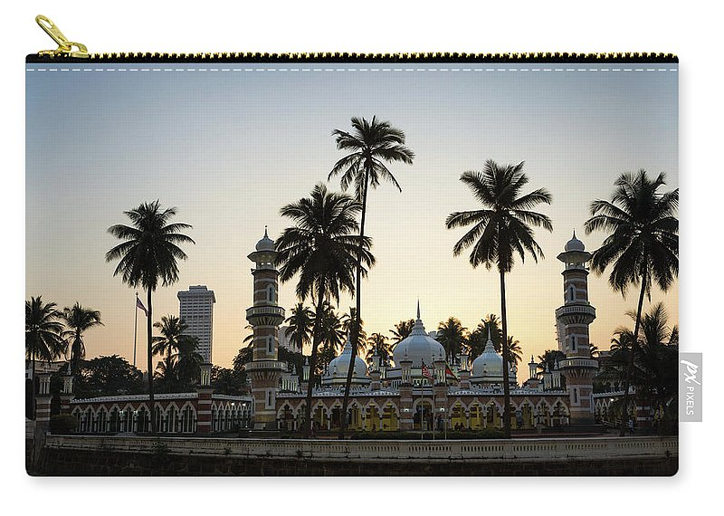 Clear Sky Carry-all Pouch featuring the photograph Masjid Jamek - Kuala Lumpur by @ Didier Marti
