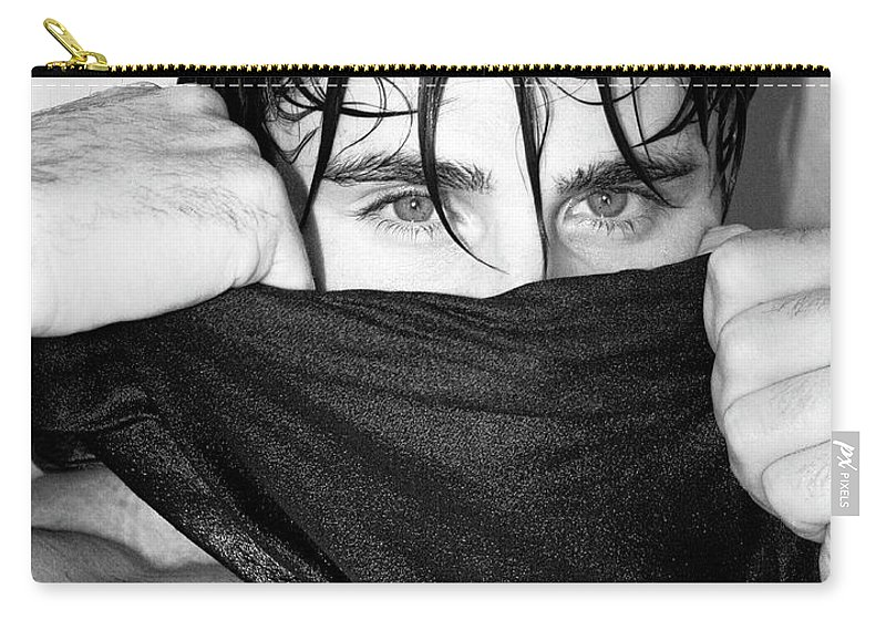 Male Model Carry-all Pouch featuring the photograph Easy On The Eyes Palm Springs by William Dey