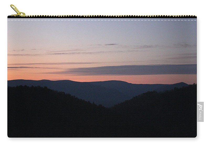 Sunrise Carry-all Pouch featuring the photograph Massanutten Sunrise by Carolyn Stagger Cokley