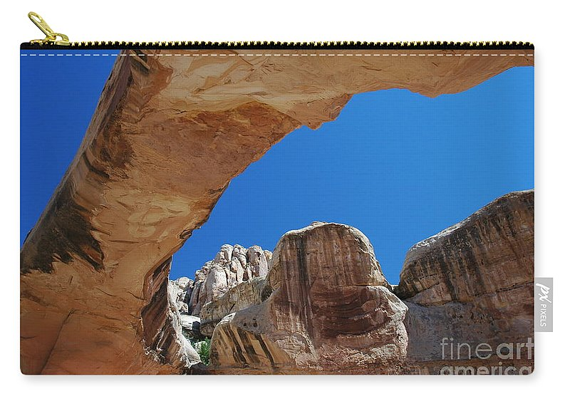 Massive Arch Carry-all Pouch featuring the photograph Massive Arch 1 by Allen Beatty