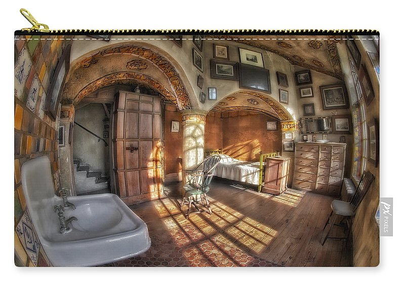 Byzantine Carry-all Pouch featuring the photograph Master Bedroom At Fonthill Castle by Susan Candelario