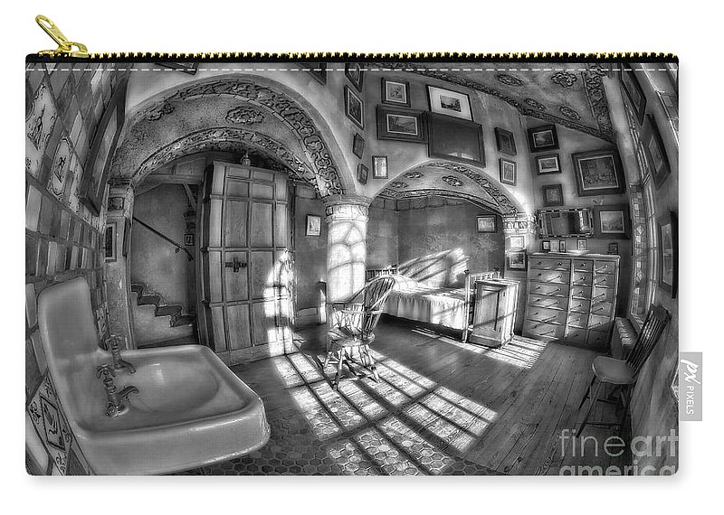 Byzantine Carry-all Pouch featuring the photograph Master Bedroom At Fonthill Castlebw by Susan Candelario