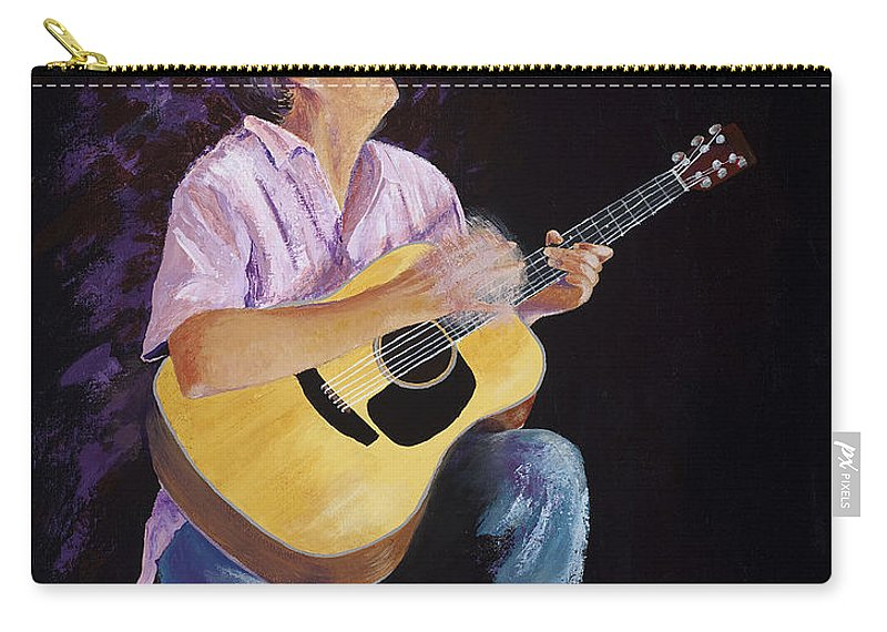 Music Carry-all Pouch featuring the painting Master In The Spotlight by Margaret Bobb