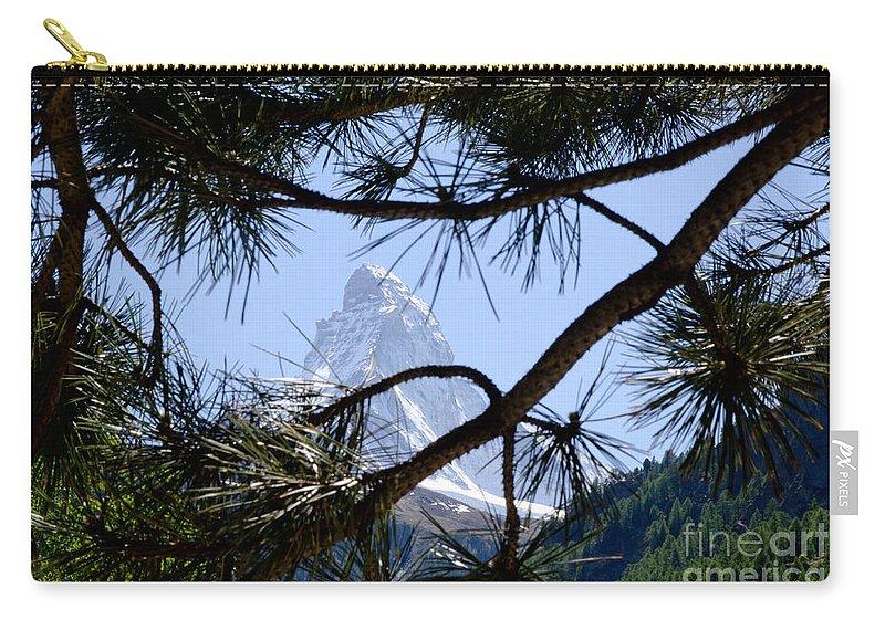 Mountains Carry-all Pouch featuring the photograph Matterhorn by Mats Silvan
