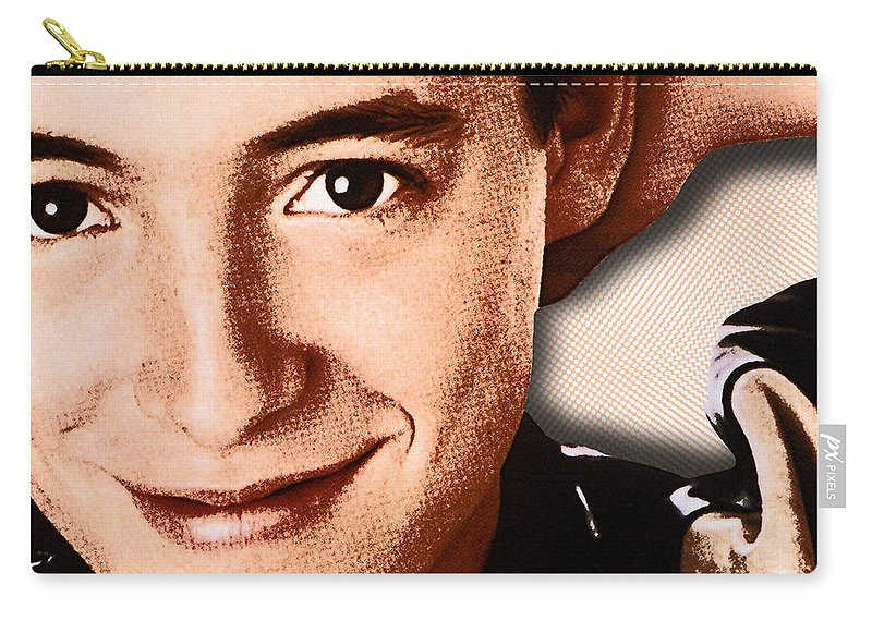 Matthew Broderick Carry-all Pouch featuring the painting Matthew Broderick In Ferris Bueller's Day Off by Tony Rubino