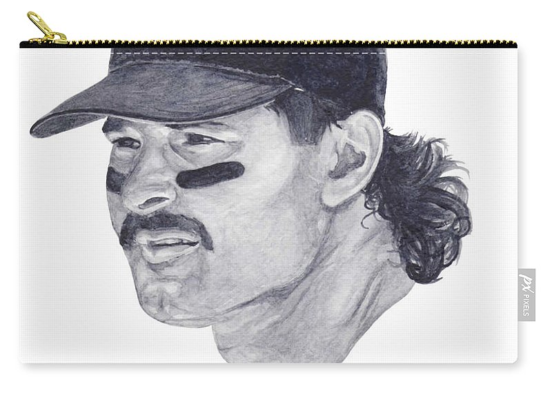 New York Carry-all Pouch featuring the painting Mattingly by Tamir Barkan