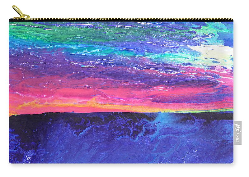 Fusionart Carry-all Pouch featuring the painting Maui Sunset by Ralph White