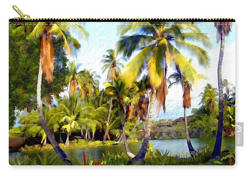 Hawaii Carry-all Pouch featuring the photograph Mauna Lani Fish Ponds by Kurt Van Wagner