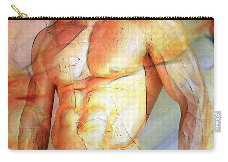 Male Nude Photos Carry-all Pouch featuring the painting Maximum Color by Mark Ashkenazi