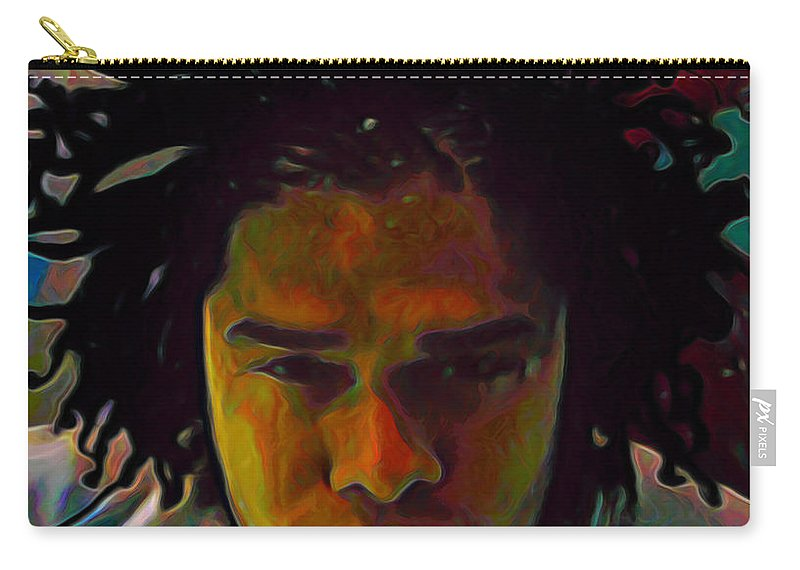 Maxwell Carry-all Pouch featuring the painting Maxwell by Fli Art