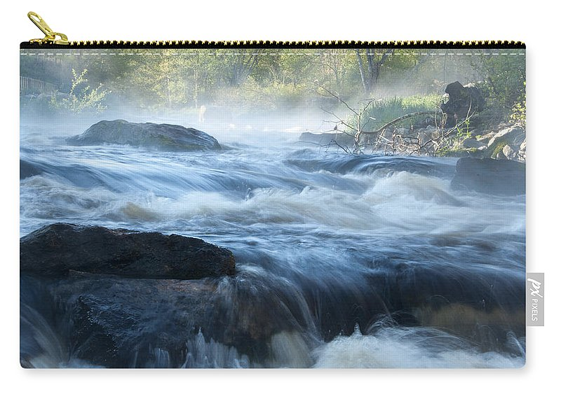 Pawcatuck Carry-all Pouch featuring the photograph May Morning On The Pawcatuck by Steven Natanson