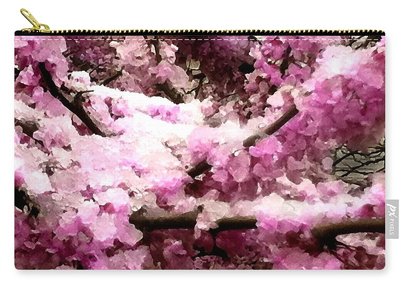 Red Bud Carry-all Pouch featuring the photograph May Snow by Steve Karol