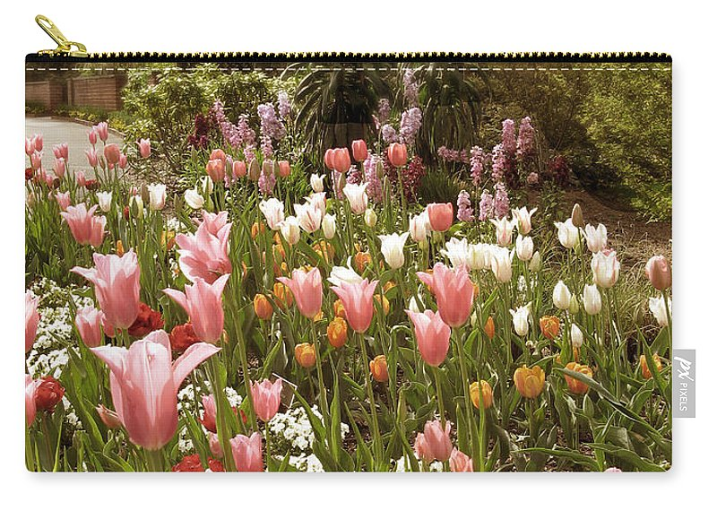 Seasonal Carry-all Pouch featuring the photograph May Tulips by Jessica Jenney