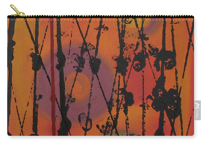 Spiritual Carry-all Pouch featuring the painting Maya 1 by Mini Arora