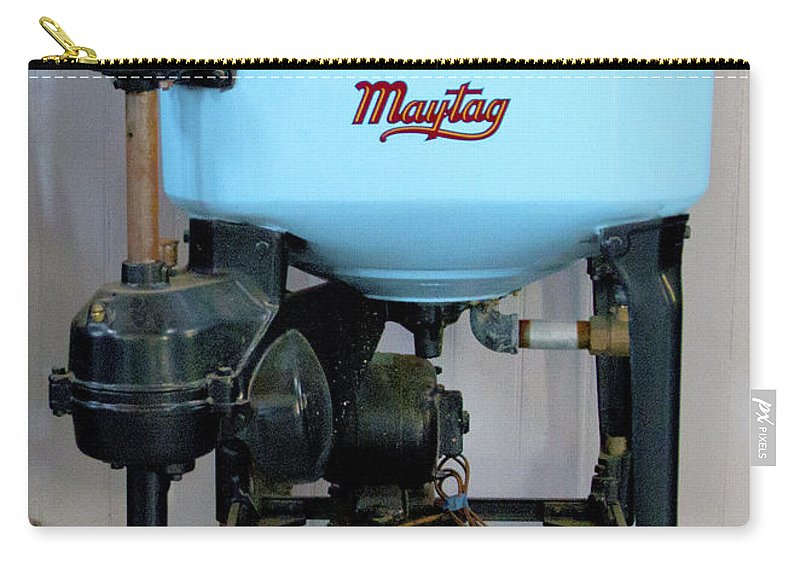 Barbara Snyder Carry-all Pouch featuring the photograph Maytag Washing Machine by Barbara Snyder
