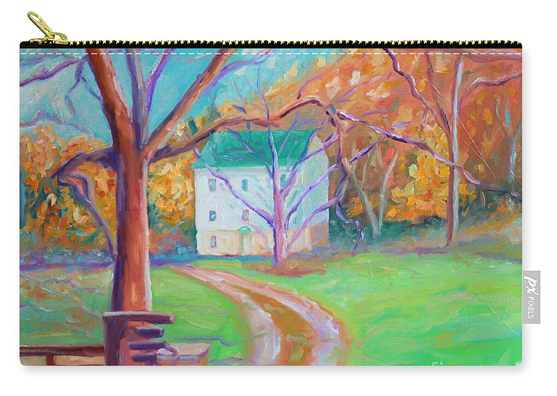 Grist Mill Carry-all Pouch featuring the painting Mc Donalds Mill by Todd Bandy