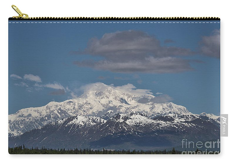Mountain Carry-all Pouch featuring the photograph Mckinley South Veiw by David Arment