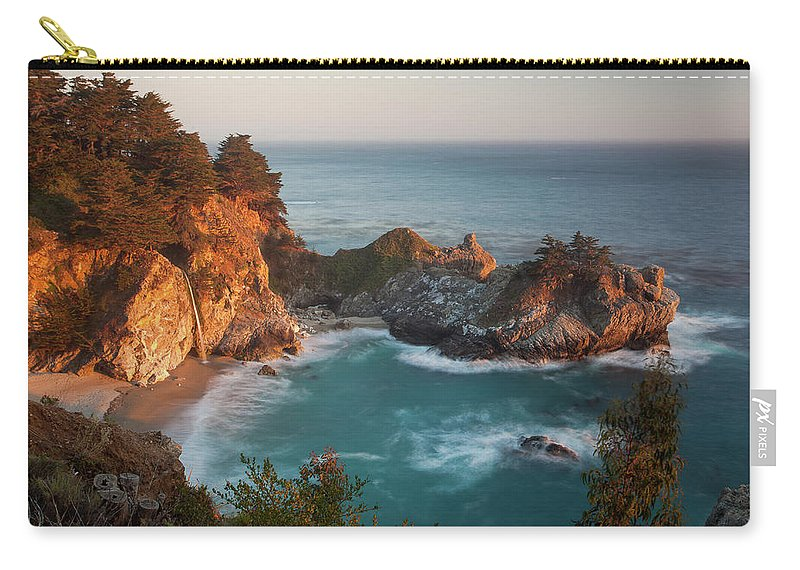 Scenics Carry-all Pouch featuring the photograph Mcway Falls At Sunset by Sean Duan