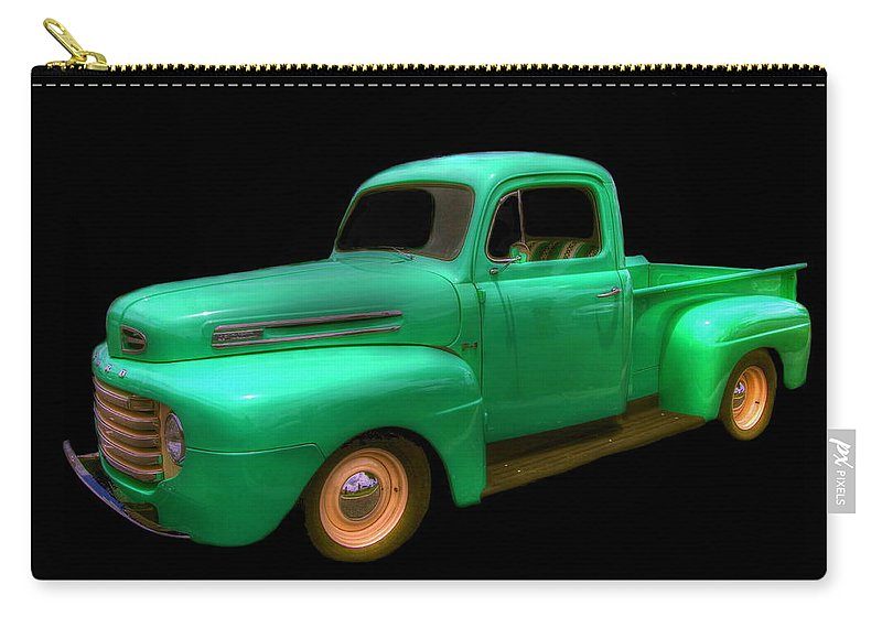 antique Trucks Carry-all Pouch featuring the photograph Mean Green - 48 Ford by Myrna Bradshaw