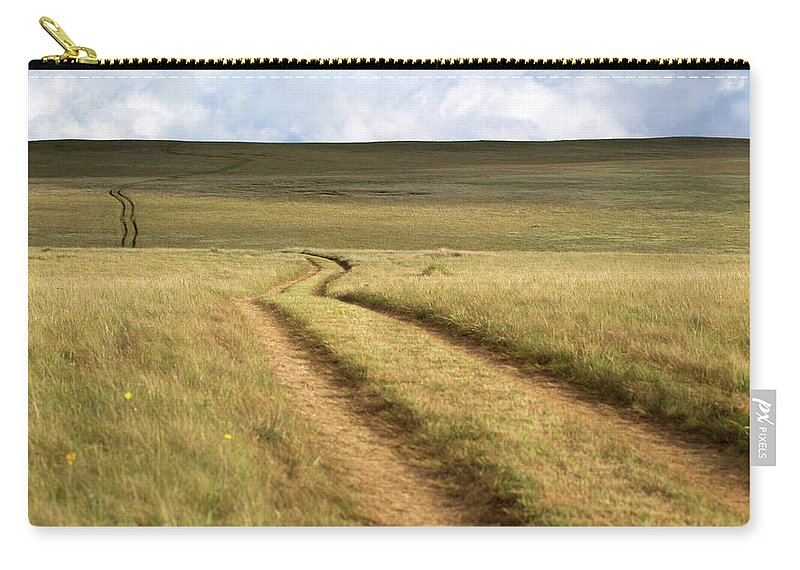 Scenics Carry-all Pouch featuring the photograph Meandering Path Through The Hills Of by Morgan Trimble