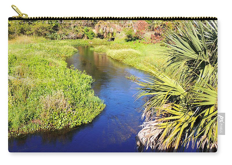 Stream Carry-all Pouch featuring the photograph Meandering Stream by Marilyn Holkham